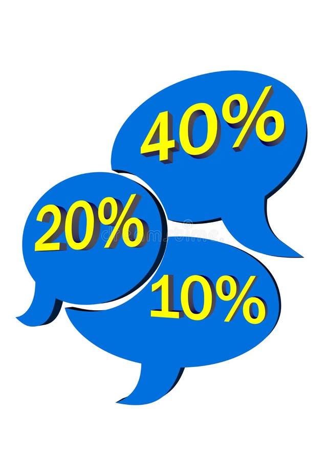 Verkaufsetikette - Blau stockbild