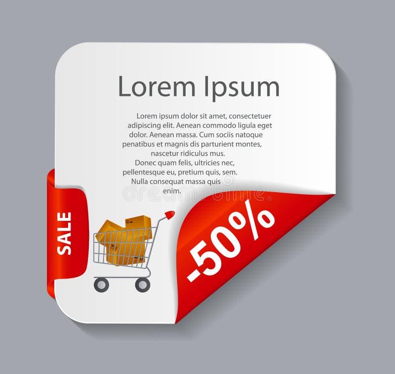 Verkaufsfahne mit Platz für Ihren Text Vektor stock abbildung