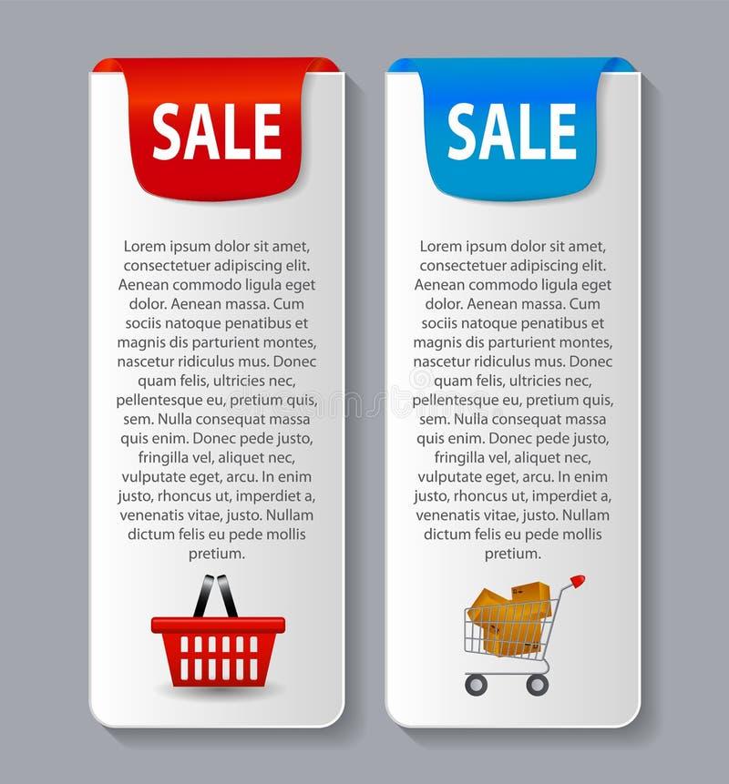 Verkaufsfahne mit Platz für Ihren Text Vektor vektor abbildung
