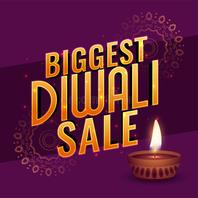 Verkaufsfahnenplakat-Entwurf teample Diwali großes vektor abbildung