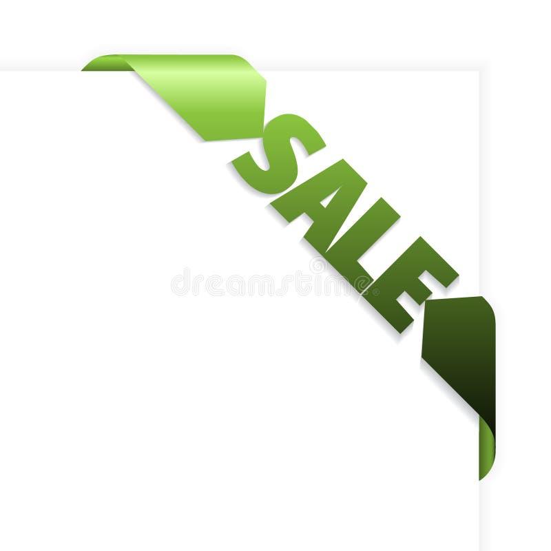 Verkaufsgrünes Eckfarbband vektor abbildung