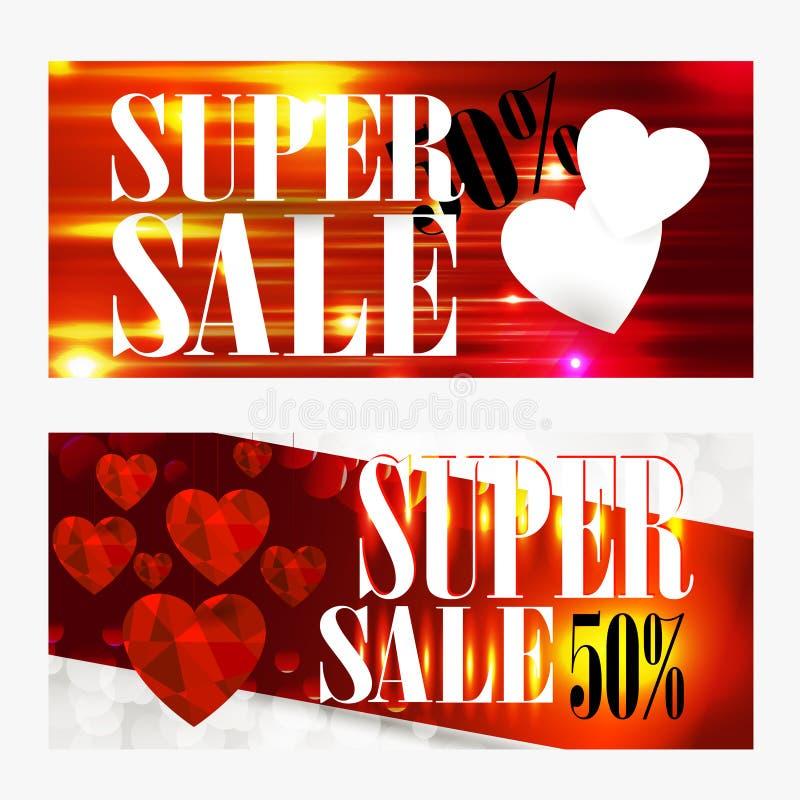 Verkaufshintergrund mit dem Herzen geformt Tapete, Flieger, Einladung, Poster, brochu stock abbildung
