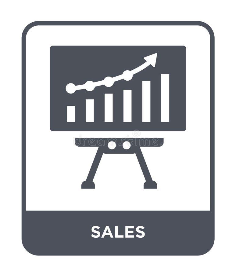 Verkaufsikone in der modischen Entwurfsart Verkaufsikone lokalisiert auf weißem Hintergrund einfaches und modernes flaches Symbol vektor abbildung