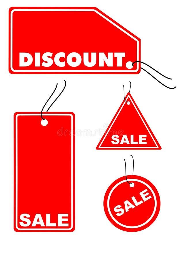 Verkaufskennsätze lizenzfreie abbildung