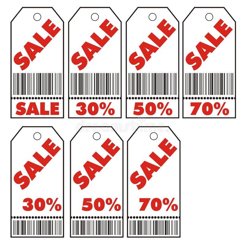 Verkaufskupon lizenzfreie abbildung