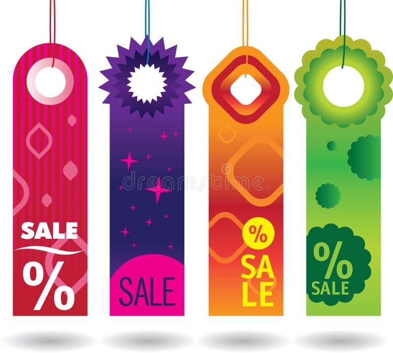 Verkaufsmarken stock abbildung