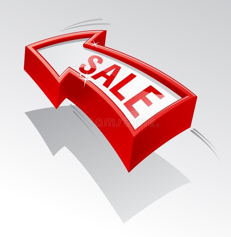 Verkaufspfeil. stock abbildung