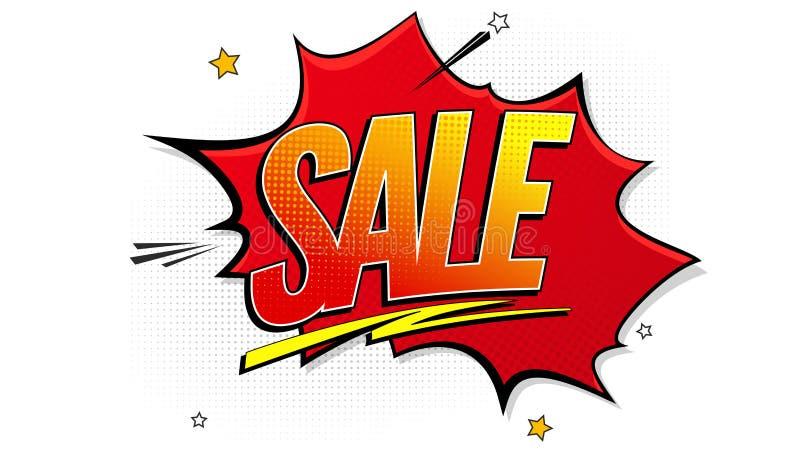 Verkaufspop-arten-Spritzenhintergrund, Explosion in den Comics buchen Art Werbungsschild, Preisnachlass, Verkauf mit vektor abbildung