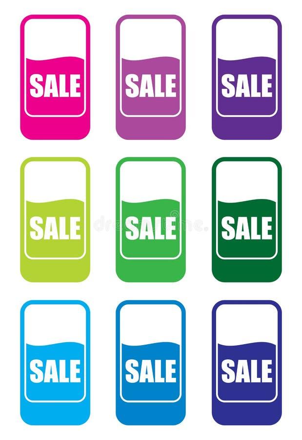Verkaufspreismarken vektor abbildung