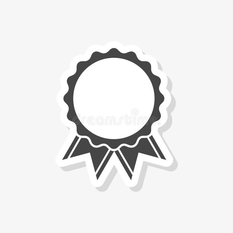 Verkaufsschlager-Bandaufkleber, einfache Vektorikone lizenzfreie abbildung