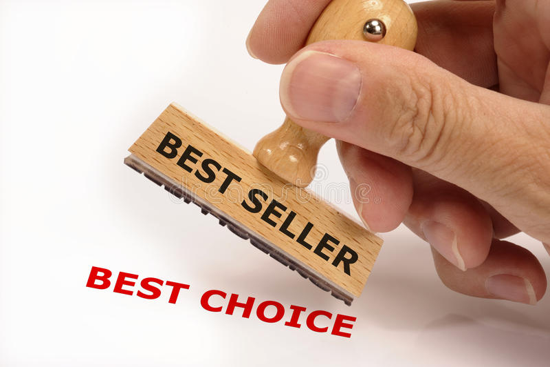Verkaufsschlager Bestsellerstempel stockfotografie