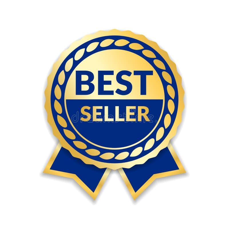 Verkaufsschlager des Bandpreises Lokalisierter weißer Hintergrund des Goldband-Preises Ikone Goldener Sonderverkaufaufkleber des  stock abbildung