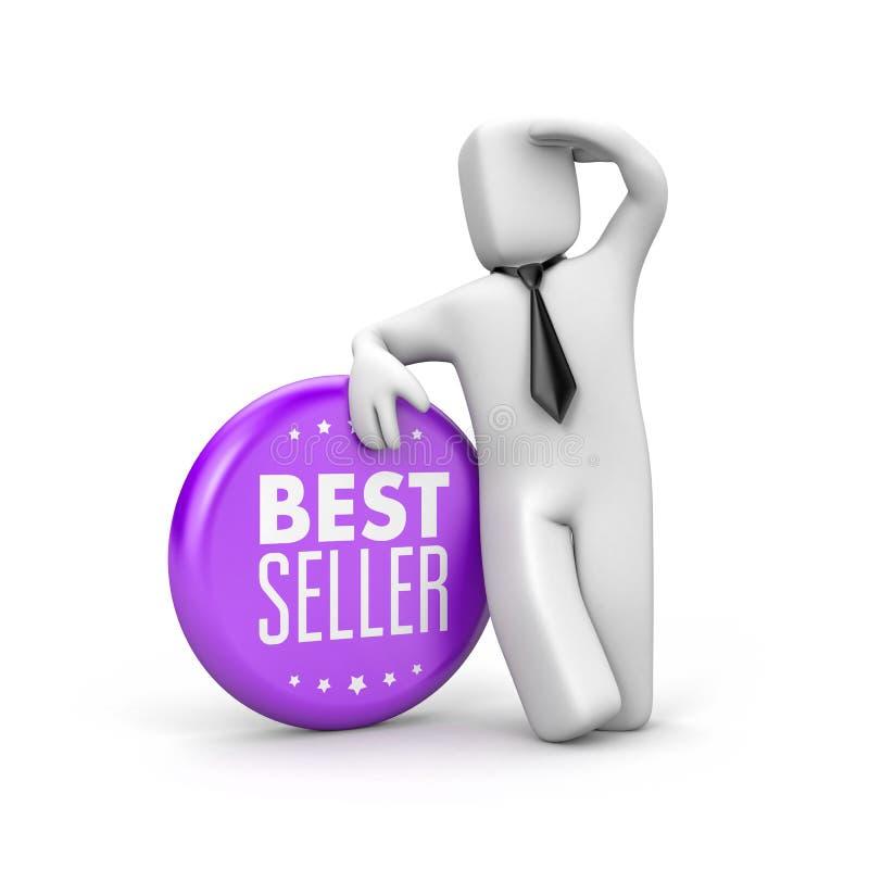 Verkaufsschlager Geschäftsmann schaut über dem Horizont - Karriere stock abbildung