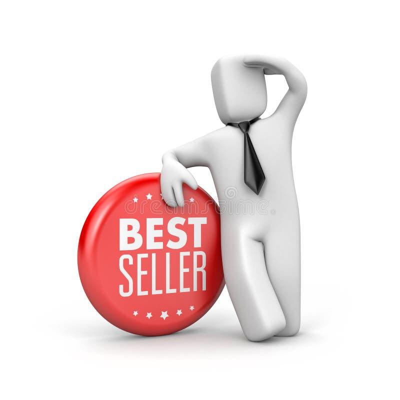 Verkaufsschlager Geschäftsmann schaut über dem Horizont - Karrieremetapher stock abbildung