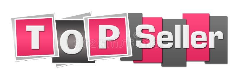 Verkaufsschlager-Rosa Grey Stripes Squares stock abbildung