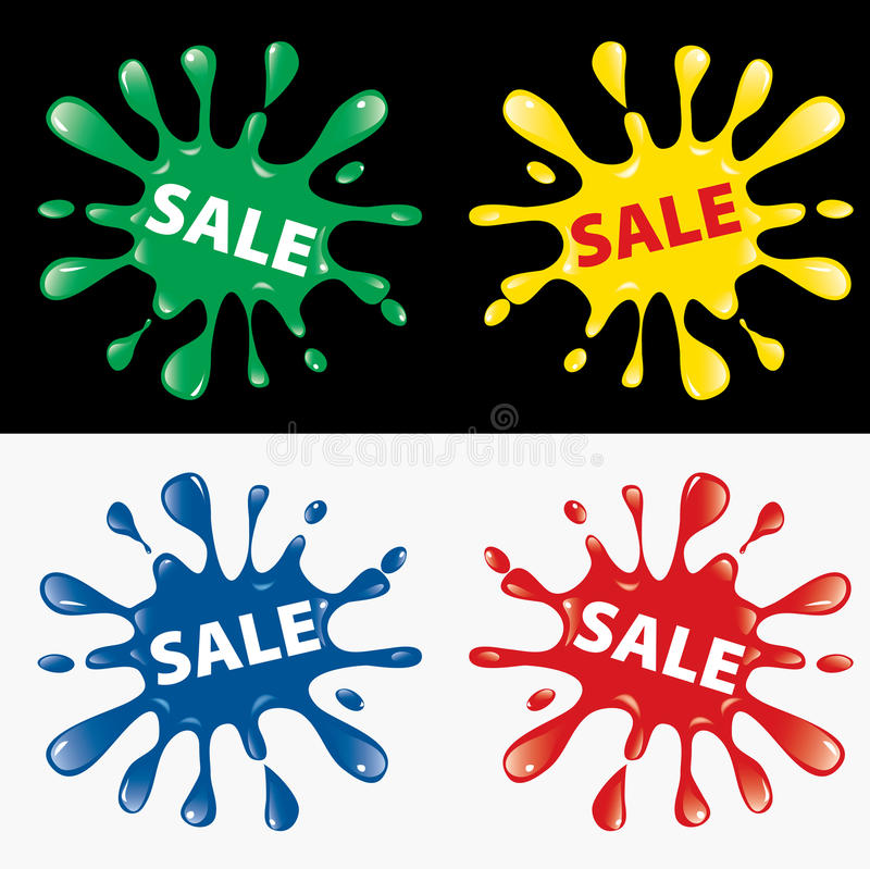 Verkaufsspritzen vektor abbildung