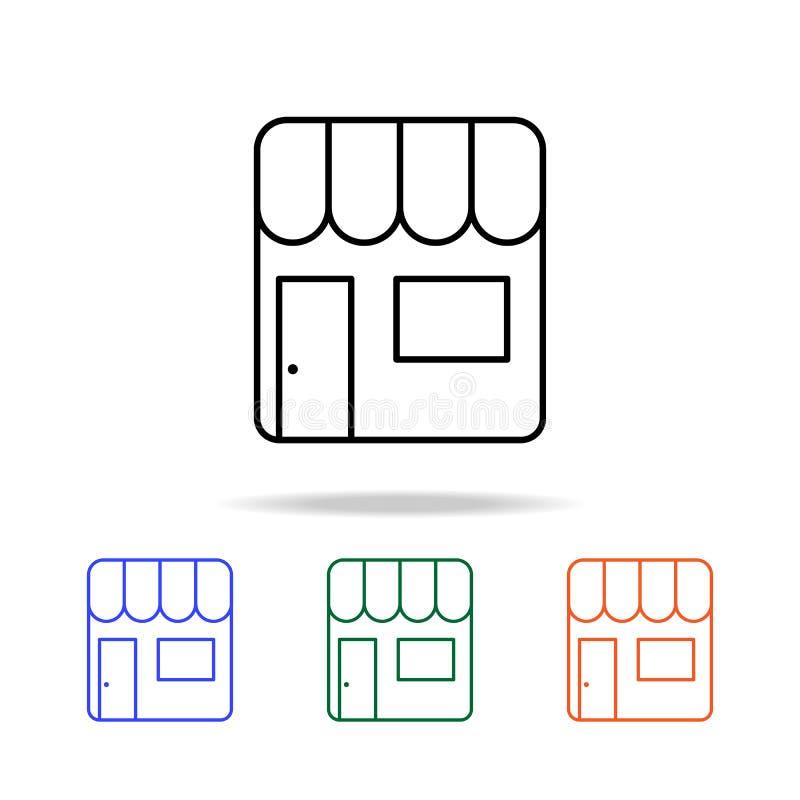 Verkaufsstallikone Elemente der einfachen Netzikone in der multi Farbe Erstklassige Qualitätsgrafikdesignikone Einfache Ikone für vektor abbildung