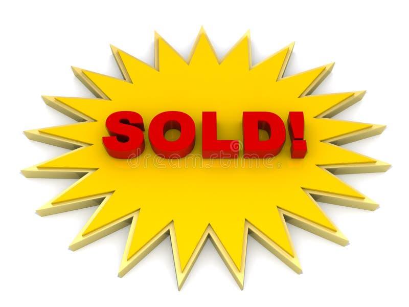 Verkaufstaste oder Marke lizenzfreie abbildung