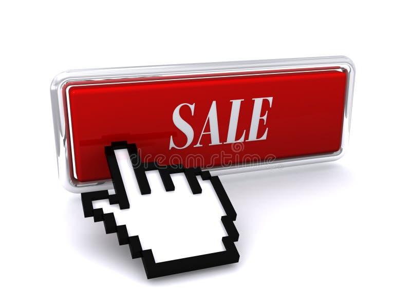 Verkaufstaste und Mäusecursor vektor abbildung