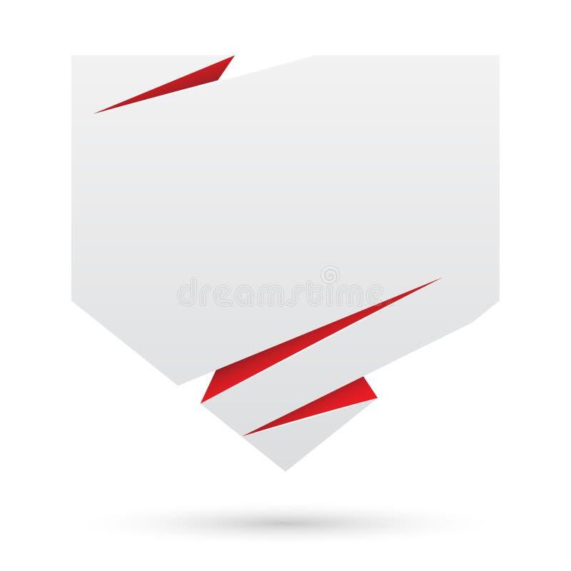 Verkaufsumbau. Abstrakter Papierausweis stock abbildung