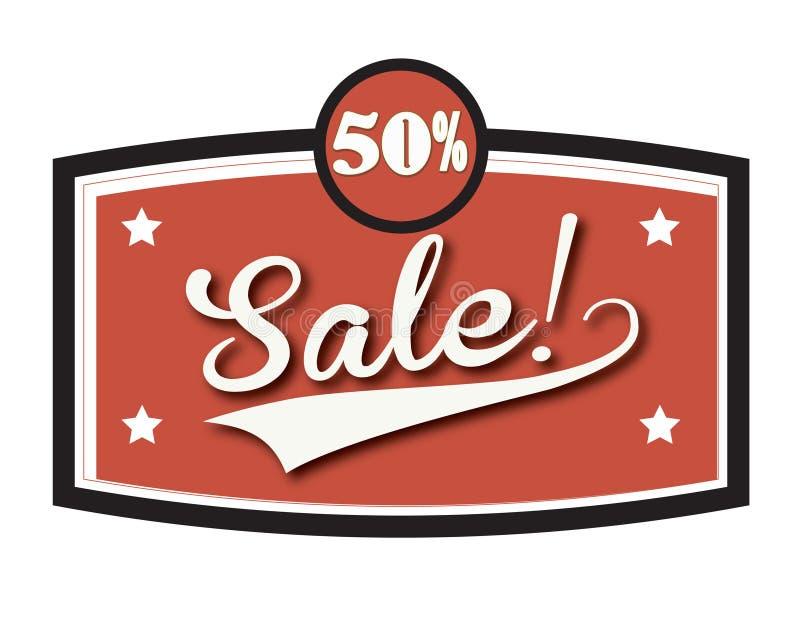 Verkauf 3 vektor abbildung