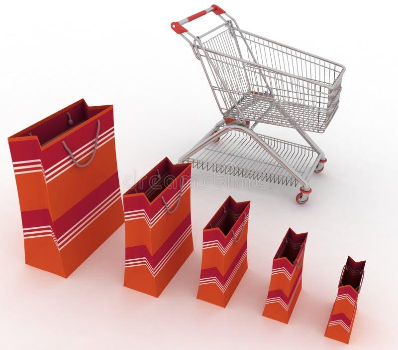 Verkaufswachstumdiagramm lizenzfreie abbildung