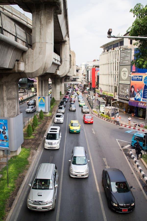Verkeer in Bangkok royalty-vrije stock fotografie