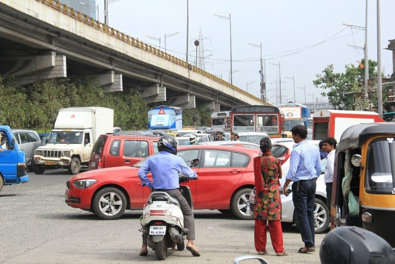 Verkeer in Bombay stock foto's