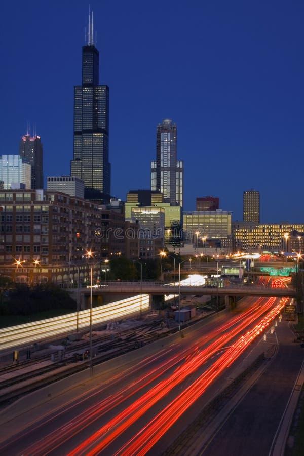 Verkeer in Chicago stock fotografie