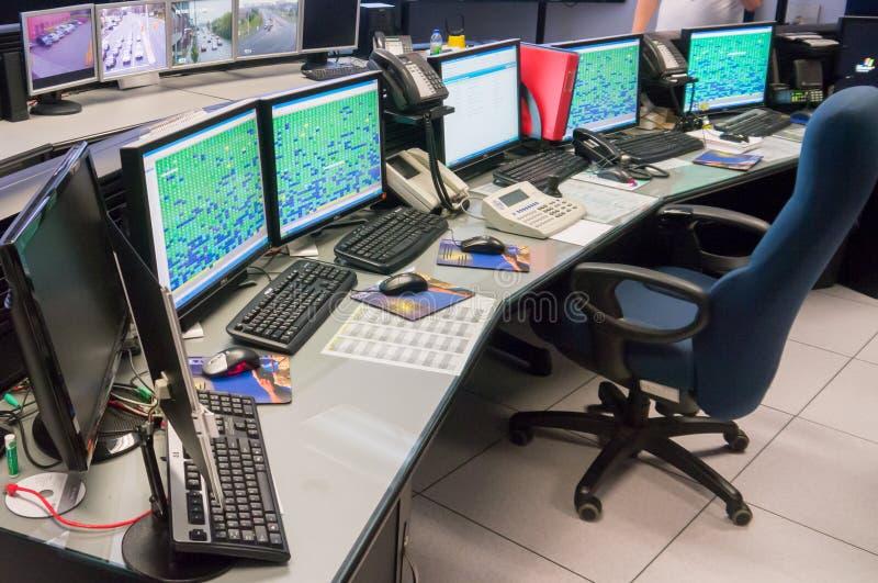 Verkeer Control Center stock afbeeldingen