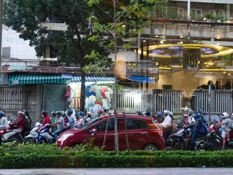Verkeer in Ho Chi Minh City royalty-vrije stock afbeelding
