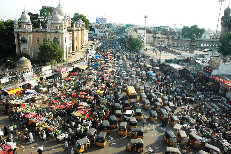 Verkeer in India royalty-vrije stock fotografie