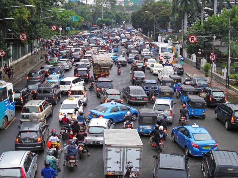Verkeer in Indonesië royalty-vrije stock foto