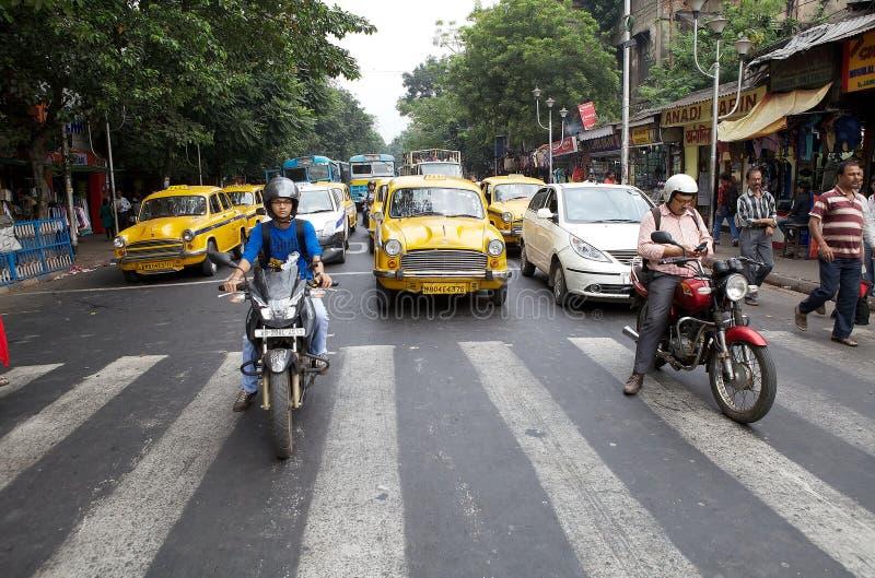 Verkeer in Kolkata, India stock fotografie