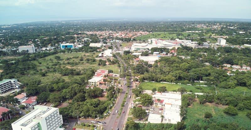 Verkeer in Nicaragua Managua stock fotografie
