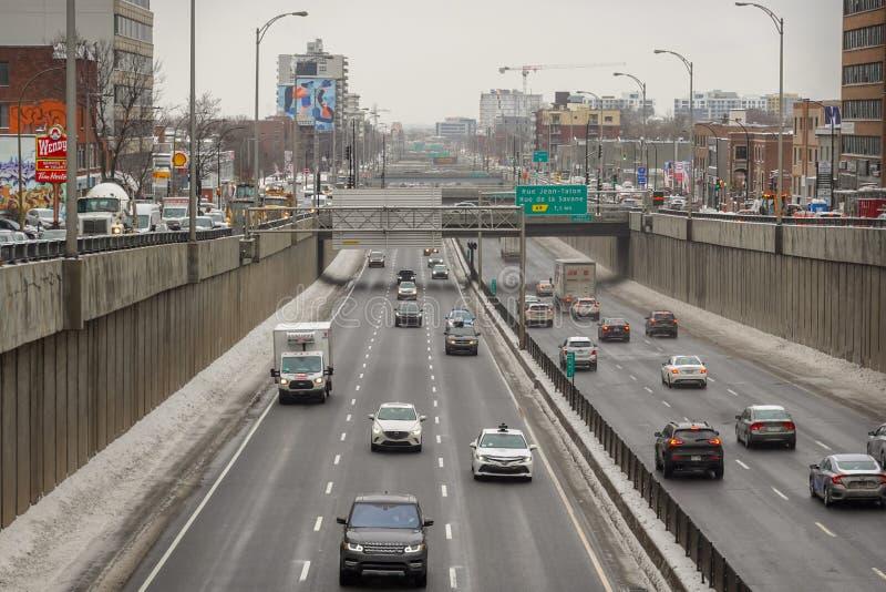 Verkeer om 12 uur op snelweg 15 stock afbeelding