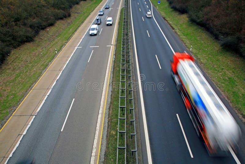 Verkeer op Autobahn royalty-vrije stock foto's