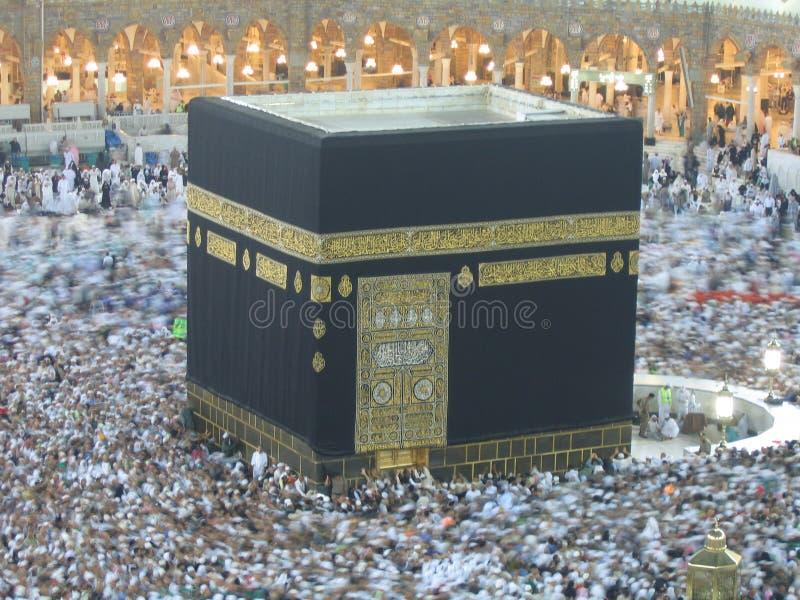 Verkeer rond Kaaba royalty-vrije illustratie