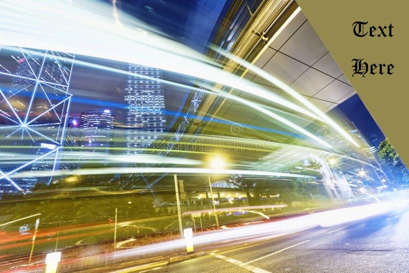 Verkeer van de de stadshoge snelheid van Hongkong het moderne stock foto's