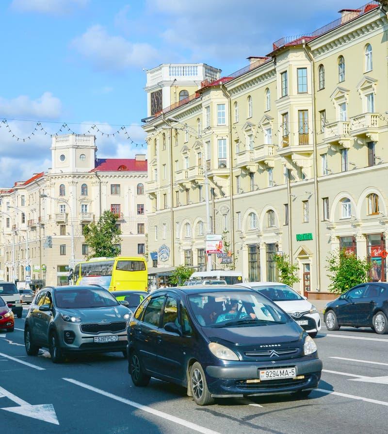 Verkeer van onafhankelijke luchthavens Minsk Belarus stock afbeeldingen