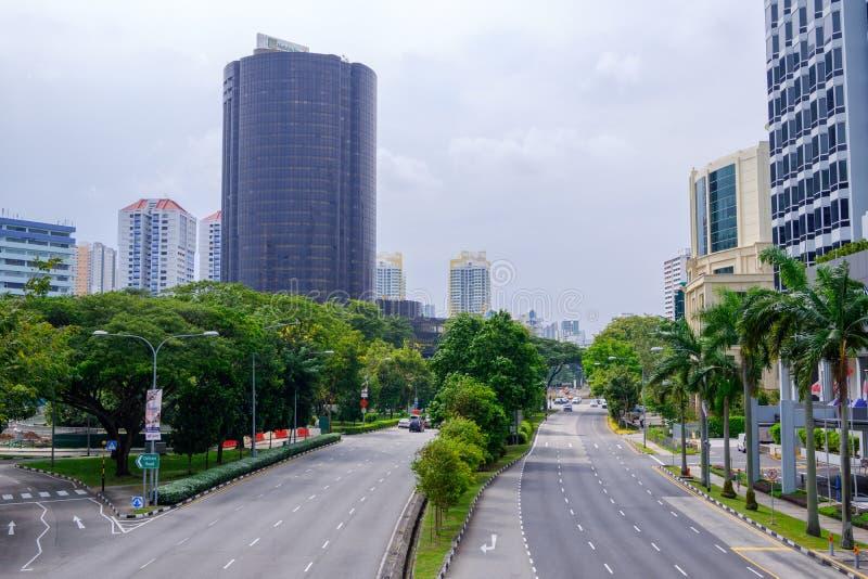 Verkeer in vrij geschikt Singapore royalty-vrije stock foto