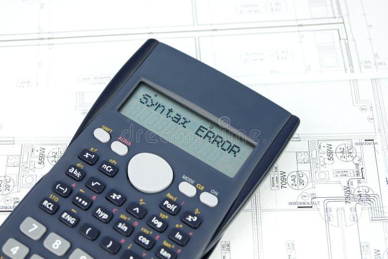 Verkeerd bericht op de vertoning van de calculator royalty-vrije stock fotografie