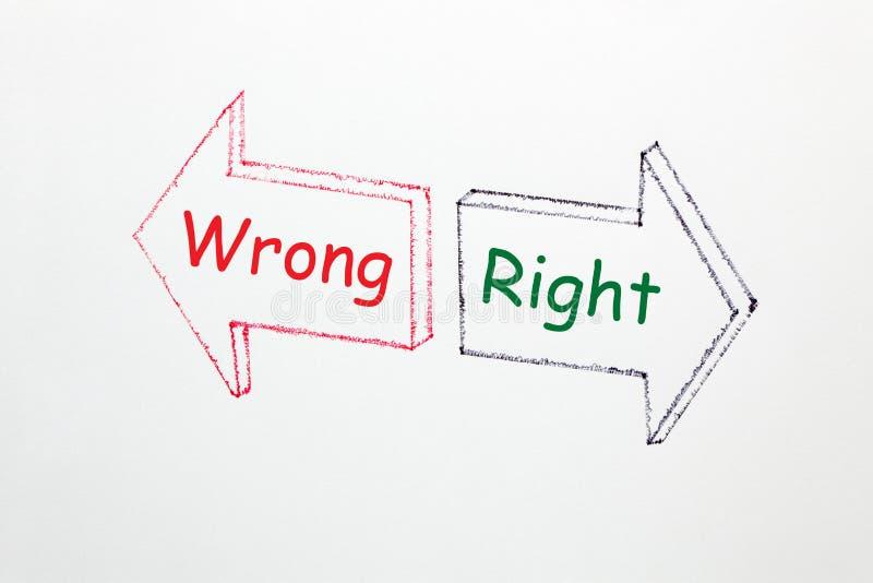 Verkeerd Juist Concept vector illustratie