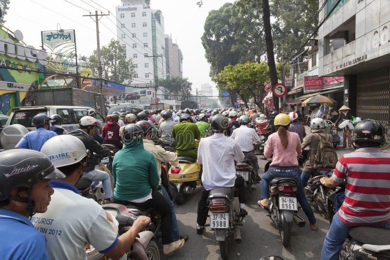Verkeerscongestie stock foto's