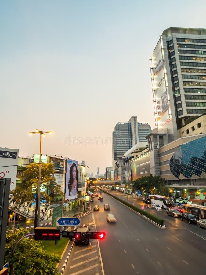 Verkeerskruispunten in Bangkok royalty-vrije stock foto's
