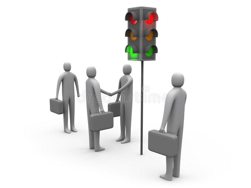 Verkeerslicht stock illustratie