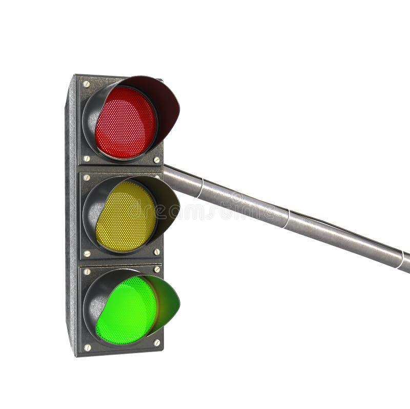 Verkeerslicht, lichten groen licht royalty-vrije stock afbeelding