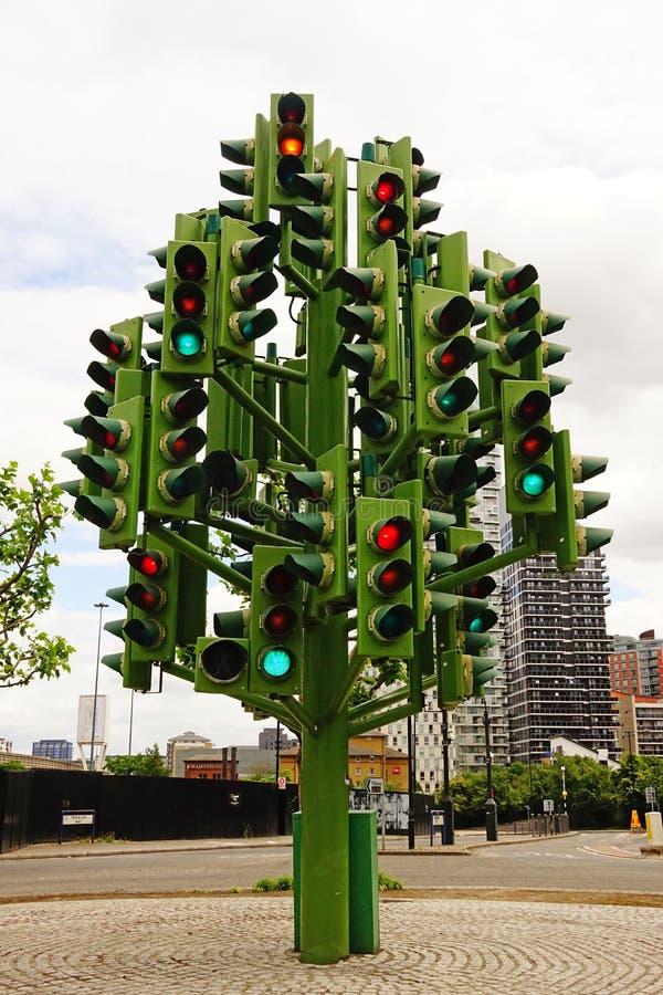 Verkeerslichtboom in Londen royalty-vrije stock afbeelding