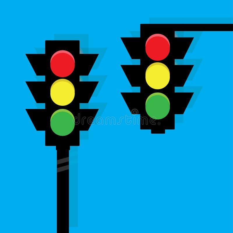 Verkeerslichtenvector royalty-vrije illustratie