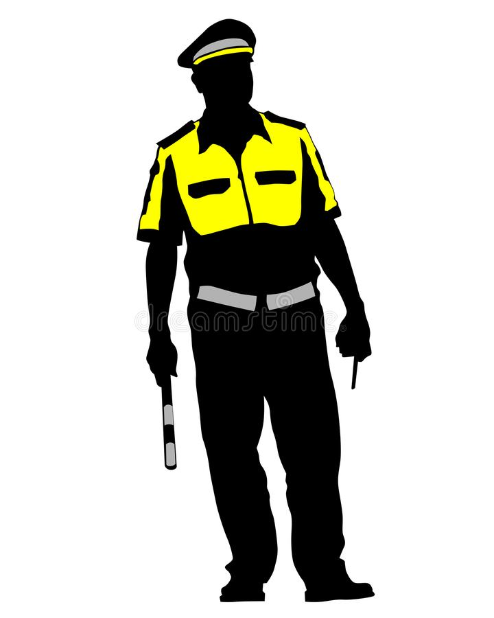 Verkeerspolitie  stock illustratie
